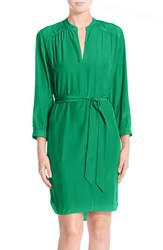 Women's A By Amanda Woven Shirtdress Kelly Green