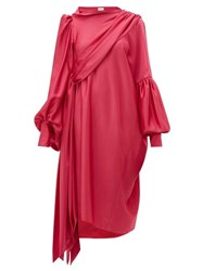 Hillier Bartley Pillowcase Satin Crepe Dress Pink