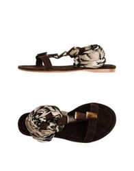 Apepazza Sandals Dark Brown