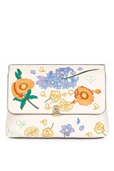 Topshop Crystal Floral Clutch Stone