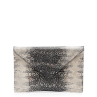 J.Crew Stationery Clutch In Embossed Leather
