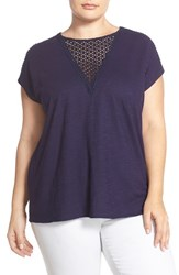 Plus Size Women's Two By Vince Camuto V Neck Inset Dolman Sleeve Tee