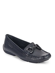 Hush Puppies Cora Leather Loafers Navy