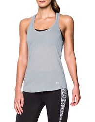 Under Armour Streaker Moisture Wicking Active Tank Top Light Grey