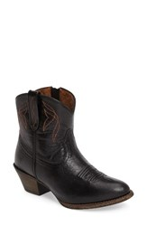 Ariat Women's Darlin Short Western Boot Old Black Leather