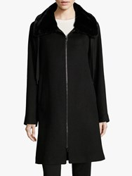 Betty Barclay Faux Fur Collar Coat Black