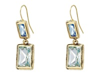 Lauren Ralph Lauren Baguette Bezel Set Double Drop Gold Blue Green Earring