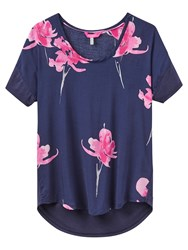 Joules Zoe Jersey Back Top Navy Orchid