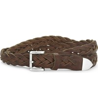 The Kooples Braided Leather Belt Cam01