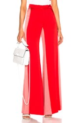 Valentino Side Stripe Track Pants In Red