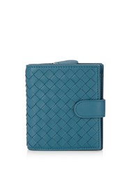 Bottega Veneta Intrecciato Leather Wallet Blue