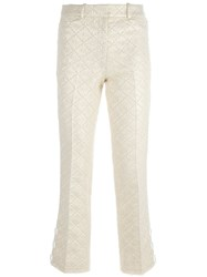 Simone Rocha Floral Jacquard Trousers Nude And Neutrals