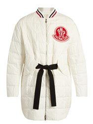 Moncler Gamme Rouge Chanel Cotton And Silk Blend Quilted Down Jacket White