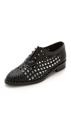 Freda Salvador Wish Woven Oxfords Black