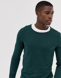 Tom Tailor Melange Jumper Green