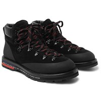 Moncler Genius 7 Fragment Suede Leather And Rubber Boots Black