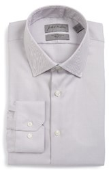 John W. Nordstromr Men's Big And Tall Nordstrom Trim Fit Dress Shirt Grey Scone