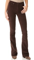 Paige High Rise Bell Canyon Pants Chocolate Brown