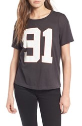 Women's Bp. Mesh Tee Grey Cloudburst
