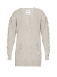 Barrie Troisieme Dimension Cashmere Cardigan Light Grey