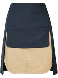 Toga Double Layer Skirt Blue
