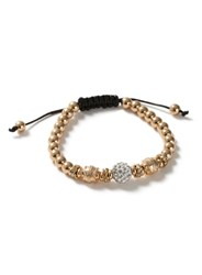 Topman Gold Look Crystal Beaded Bracelet