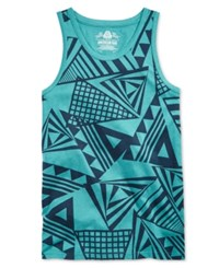 American Rag Men's Triangle Print Tank Only At Macy's Dull Jade