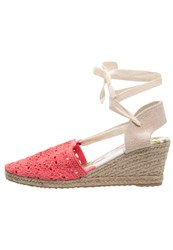 Anna Field Wedges Rose Coral