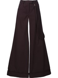 Rosie Assoulin Flared Palazzo Pants Black