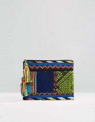 Asos Embroidered Make Up Bag Multi