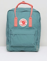 Fjall Raven Fjallraven Classic Kanken Backpack In Green With Contrast Pink Green Pink 664