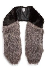 Halogen Faux Fur Stole Black