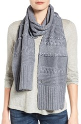 Uggr Women's Ugg Cable Knit Scarf Steel Heather