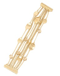 Kenneth Cole Mixed Metal Multi Chain Bracelet Gold