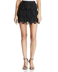 Aqua X Maddie And Tae Lace Tiered Skirt 100 Bloomingdale's Exclusive Black