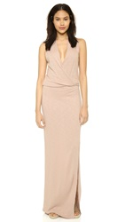Lanston Surplice Maxi Dress Blush