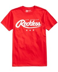 Young And Reckless Men's Graphic Print T Shirt Red