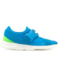 Christopher Kane Safety Buckle Sneakers Blue