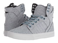 Supra Skytop Slate Blue Light Grey Women's Skate Shoes Gray
