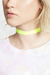 Forever 21 Neon Stretch Choker Neon Yellow