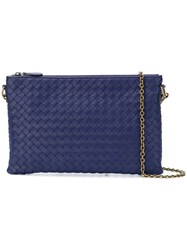 Bottega Veneta City Knot Shoulder Bag Blue