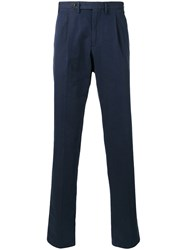 Canali Tapered Trousers Men Cotton 46 Blue