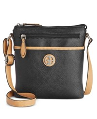 Giani Bernini Saffiano Crossbody Only At Macy's Black