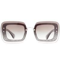 Miu Miu Embellished Sunglasses Grey