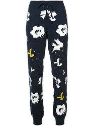 Barrie Graphic Print Cuffed Joggers Blue