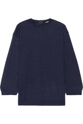 Adam By Adam Lippes Adam Lippes Cashmere And Silk Blend Sweater Navy