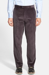 Men's Big And Tall Linea Naturale Weathered Corduroy Pants Charcoal
