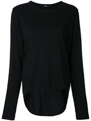 Bassike Classic Knitted Top Women Cotton M Black