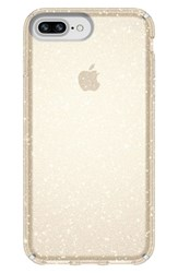 Speck Iphone 6 6S 7 8 Plus Case Metallic Clear With Gold Glitter Clear