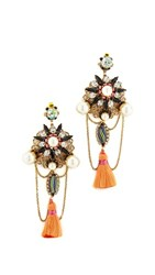 Erickson Beamon Imitation Pearl Safari Tassel Earrings Multi